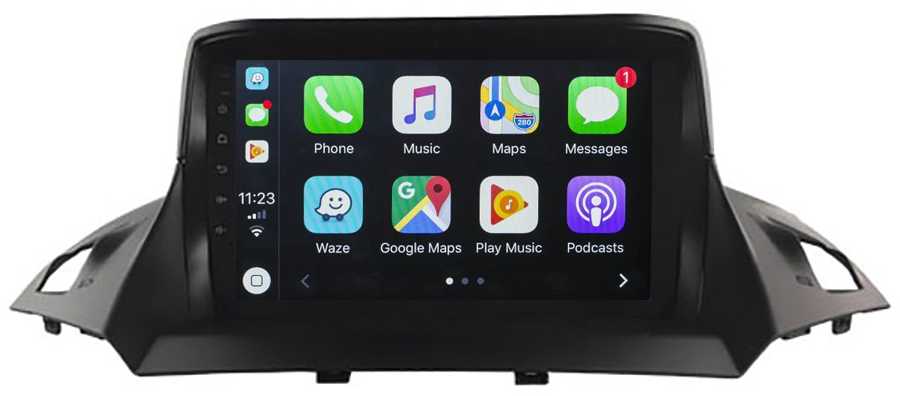 Ecran tactile QLED Android 10.0 + Apple Carplay sans fil Ford Kuga de 2013 à 2019