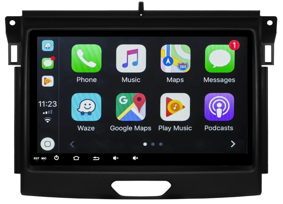 Ecran tactile Android 10.0 + Apple Carplay via USB Ford Ranger depuis 2016