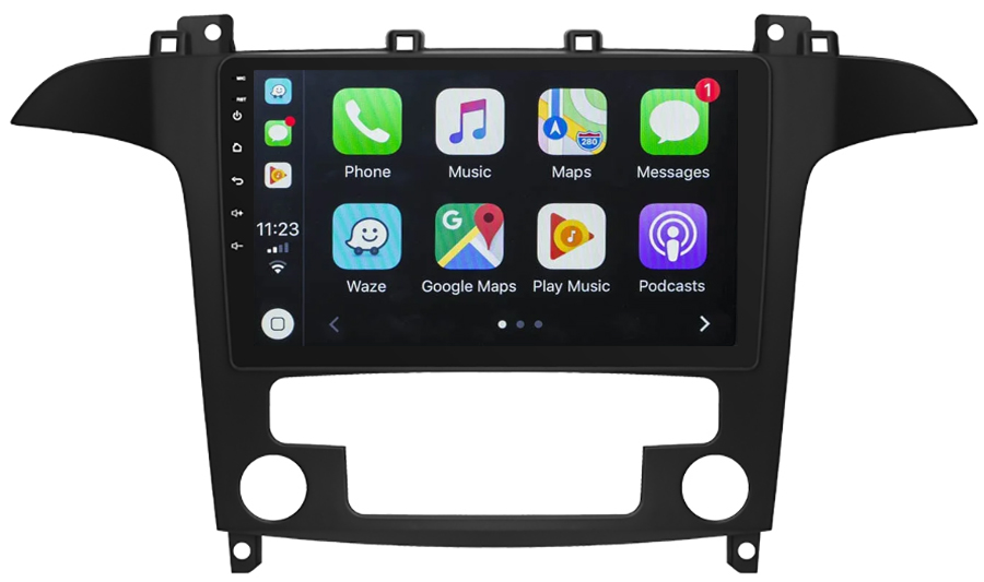 Ecran tactile Android 10.0 + Apple Carplay sans fil Ford S-Max de 2006 à 2015