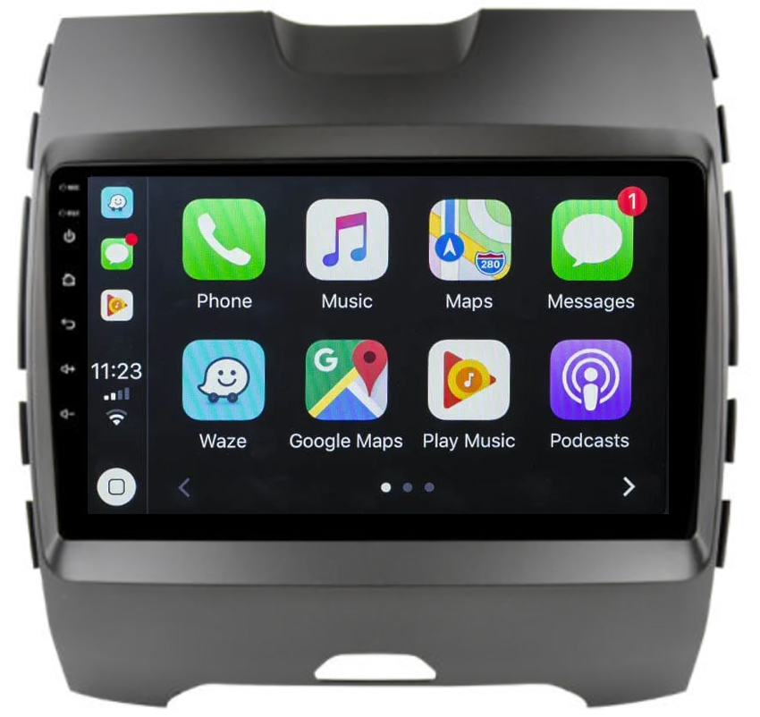 Ecran tactile Android 10.0 + Apple Carplay via USB Ford Edge de 2014 à 2018