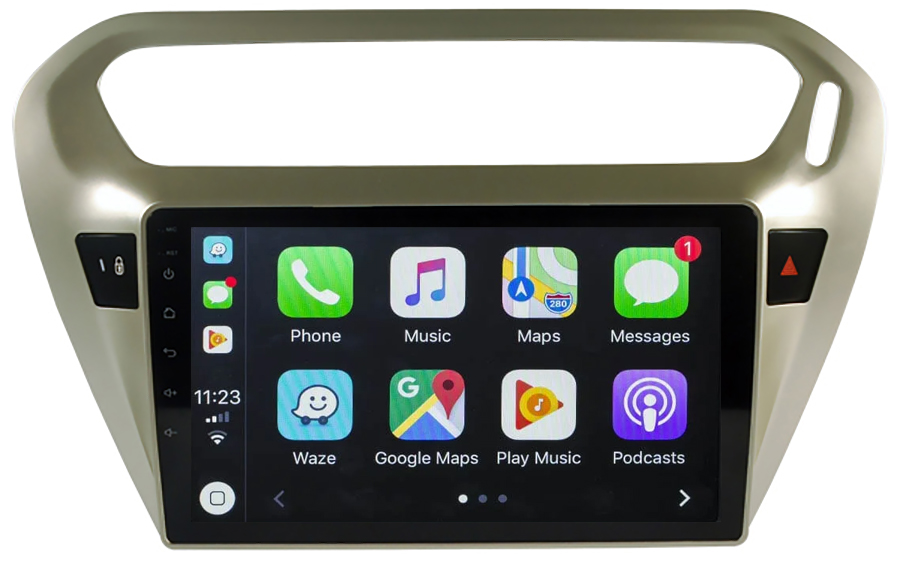 Ecran tactile Android 10.0 + Apple Carplay via USB Citroën C-Elysée de 2012 à 2017