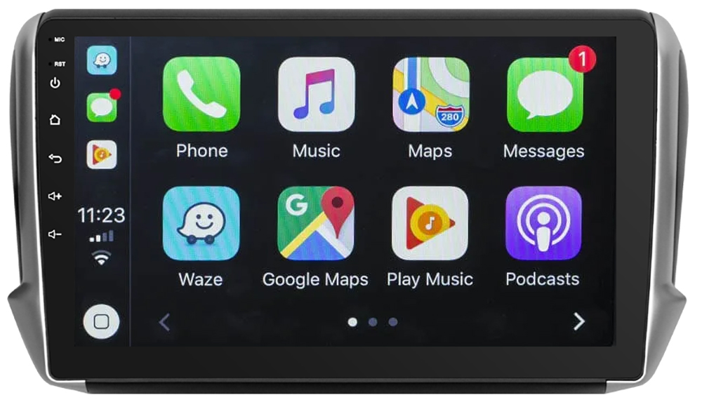 Ecran tactile Android 10.0 + Apple Carplay via USB Peugeot 208 et Peugeot 2008 de 2012 à 2019