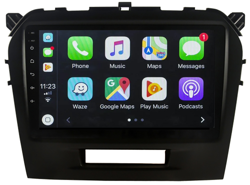Ecran tactile Android 10.0 + Apple Carplay sans fil Suzuki Vitara de 04/2015 à 2020