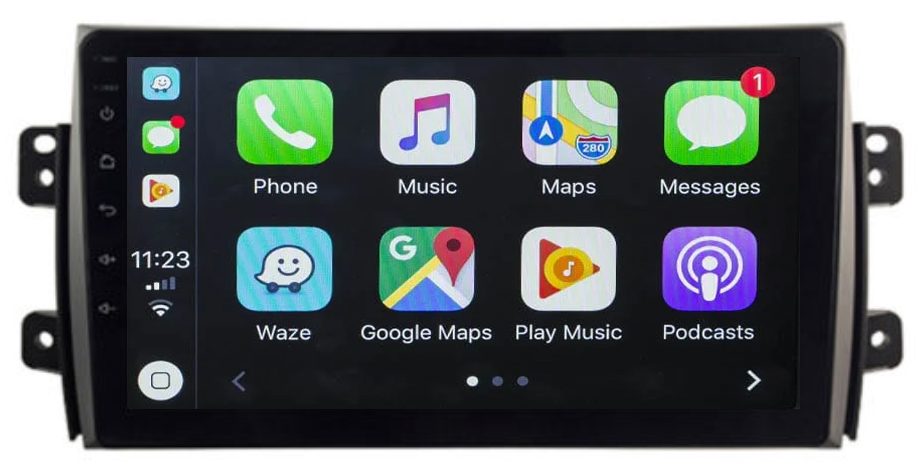 Ecran tactile Android 10.0 + Apple Carplay sans fil Fiat Sedici de 2006 à 2014