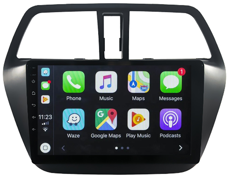 Ecran tactile QLED Android 10.0 + Apple Carplay sans fil Suzuki SX4 S-Cross depuis 2013