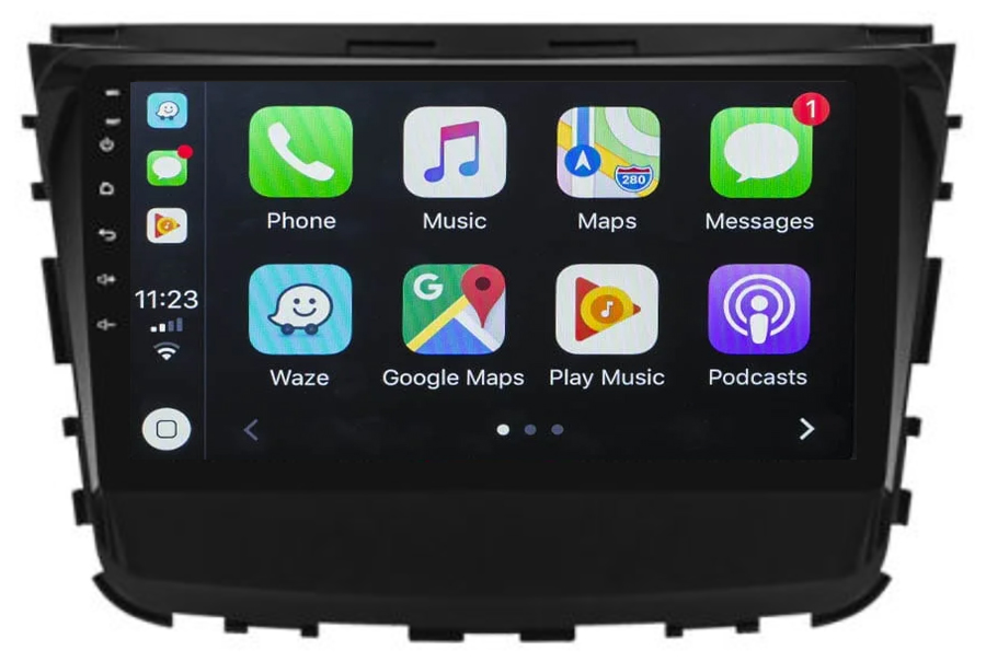 Ecran tactile Android 10.0 + Apple Carplay via USB Ssangyong Rexton depuis 2017