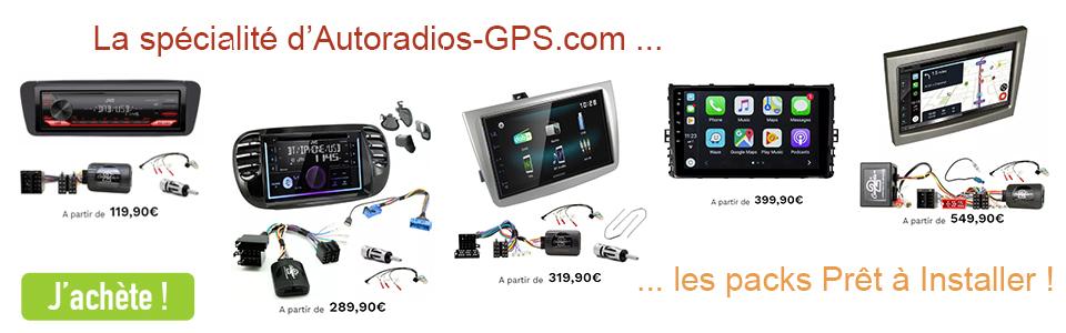 Kit intégration + Autoradio Alpine, JVC et Kenwood