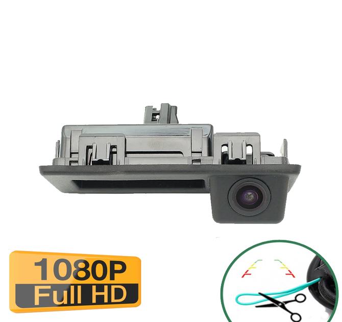 Caméra de recul avec poignée d\'ouverture de coffre pour Volkswagen Touran Tiguan - qualité Full HD 1080P