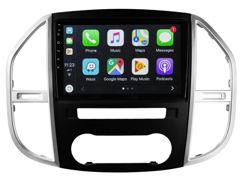 Ecran tactile QLED Android 10.0 + Apple Carplay sans fil Mercedes Vito de 2015 à 2020