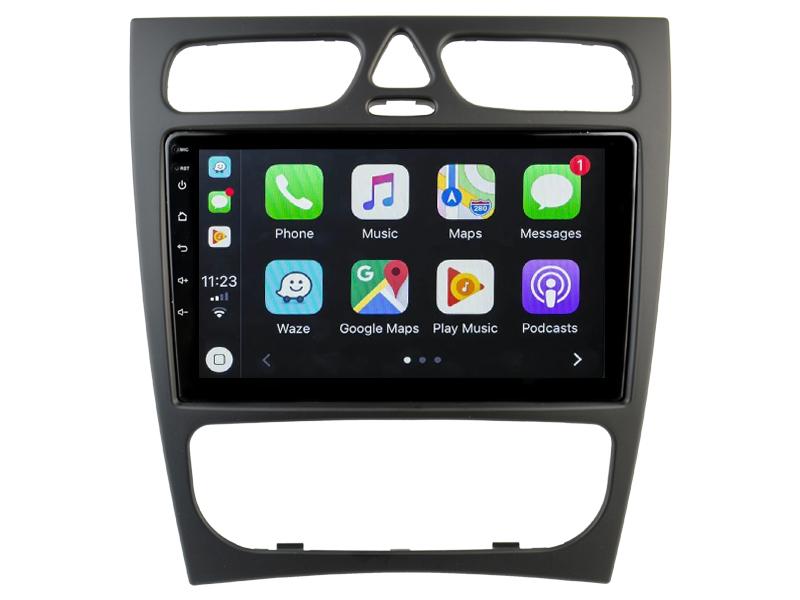Ecran tactile QLED Android 10.0 + Apple Carplay sans fil Mercedes Classe C et CLK