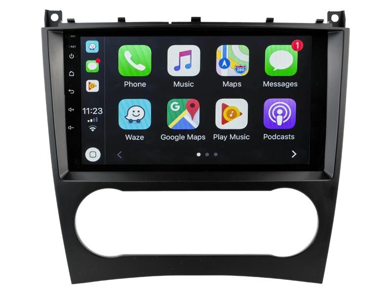 Ecran tactile QLED Android 10.0 + Apple Carplay sans fil Mercedes Classe C et CLC