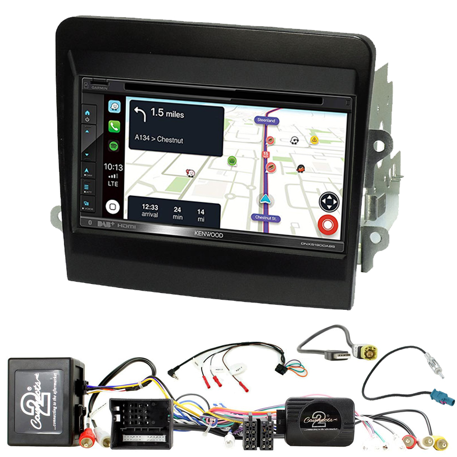 Kit d\'intégration Porsche Boxster, Cayman et 911 991 de 2012 à 2016 + Autoradio tactile Navigation GPS