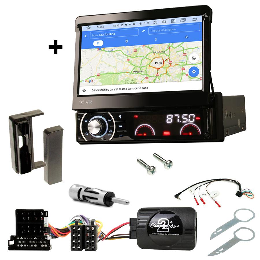 Kit d\'intégration Audi TT de 1998 à 2006 + Poste 1DIN avec écran tactile