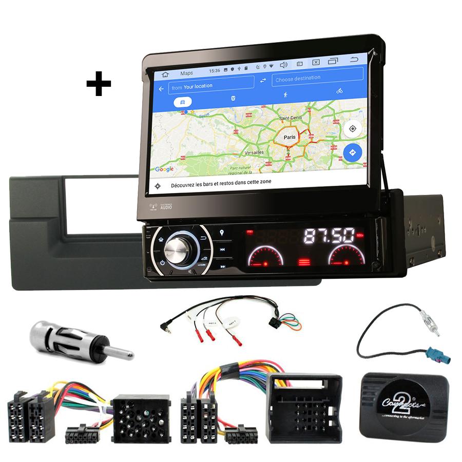 Kit d\'intégration BMW Série 5 E39 et BMW X5 E53 + Poste 1DIN avec écran tactile