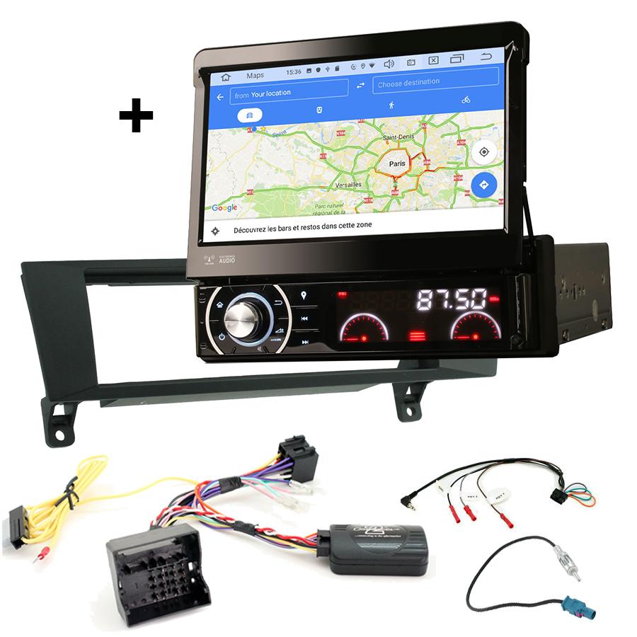 Kit d\'intégration BMW Z4, BMW X1, BMW Série 1 et Série 3 + Poste 1DIN avec écran tactile