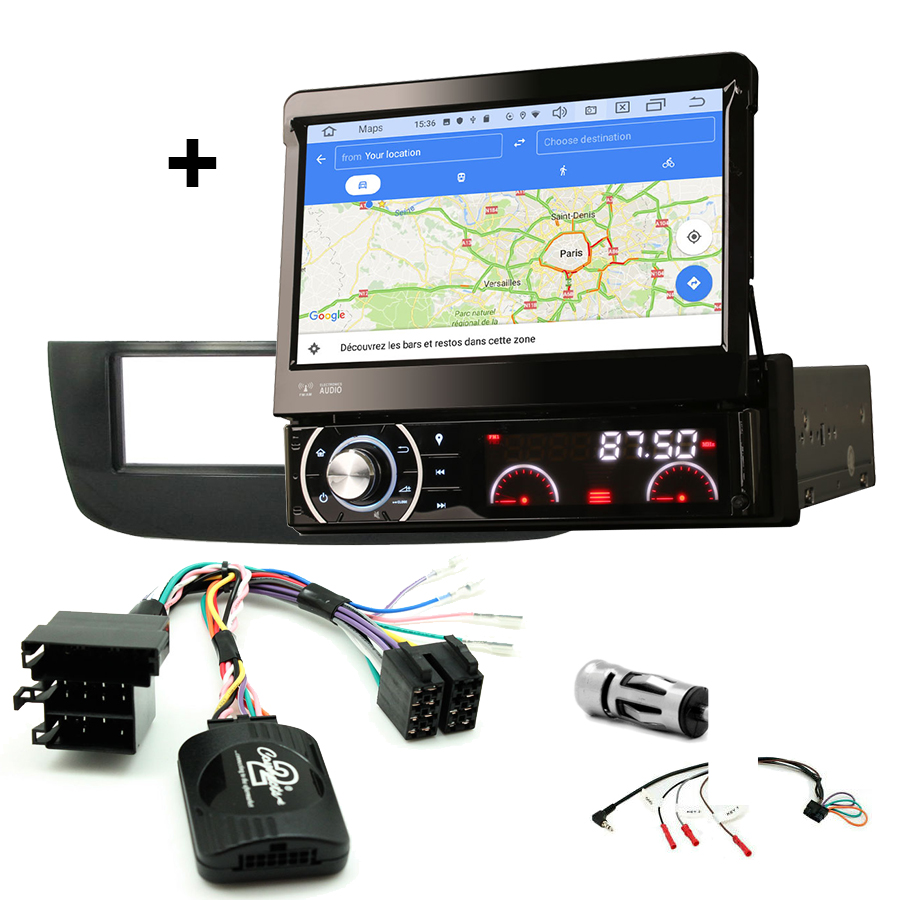 Kit d\'intégration Fiat Punto Evo de 10/2009 à 01/2011 et Punto depuis 01/2011 + Poste 1DIN avec écran tactile