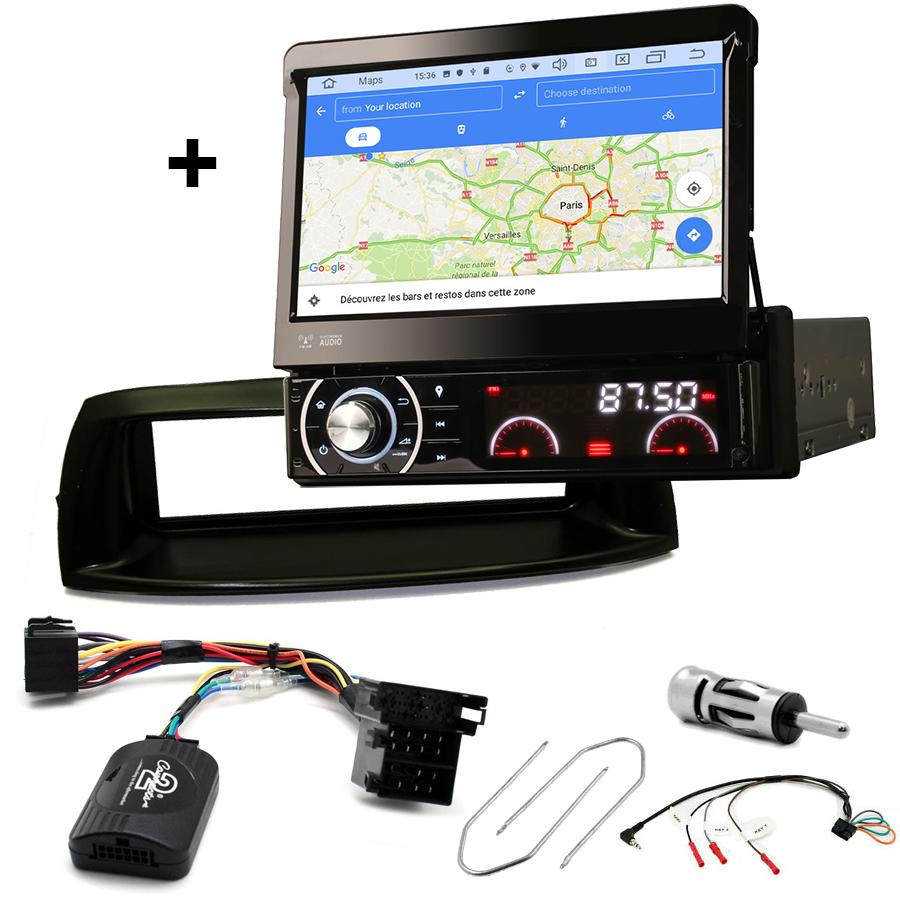 Kit d\'intégration Fiat Punto de 05/1999 à 04/2007 + Poste 1DIN avec écran tactile