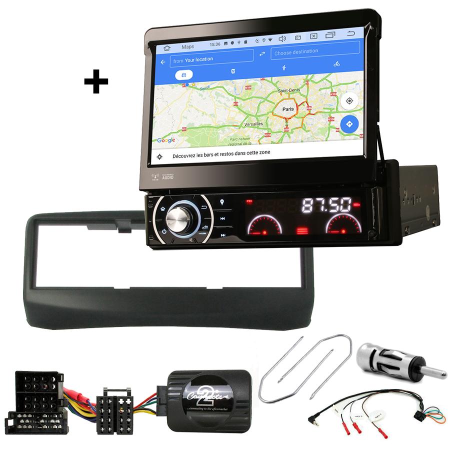 Kit d\'intégration Fiat Multipla de 1999 à 2010 + Poste 1DIN avec écran tactile