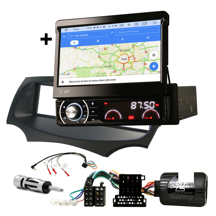 Kit d\'intégration Ford Ka de 2009 à 2017 + Poste 1DIN avec écran tactile