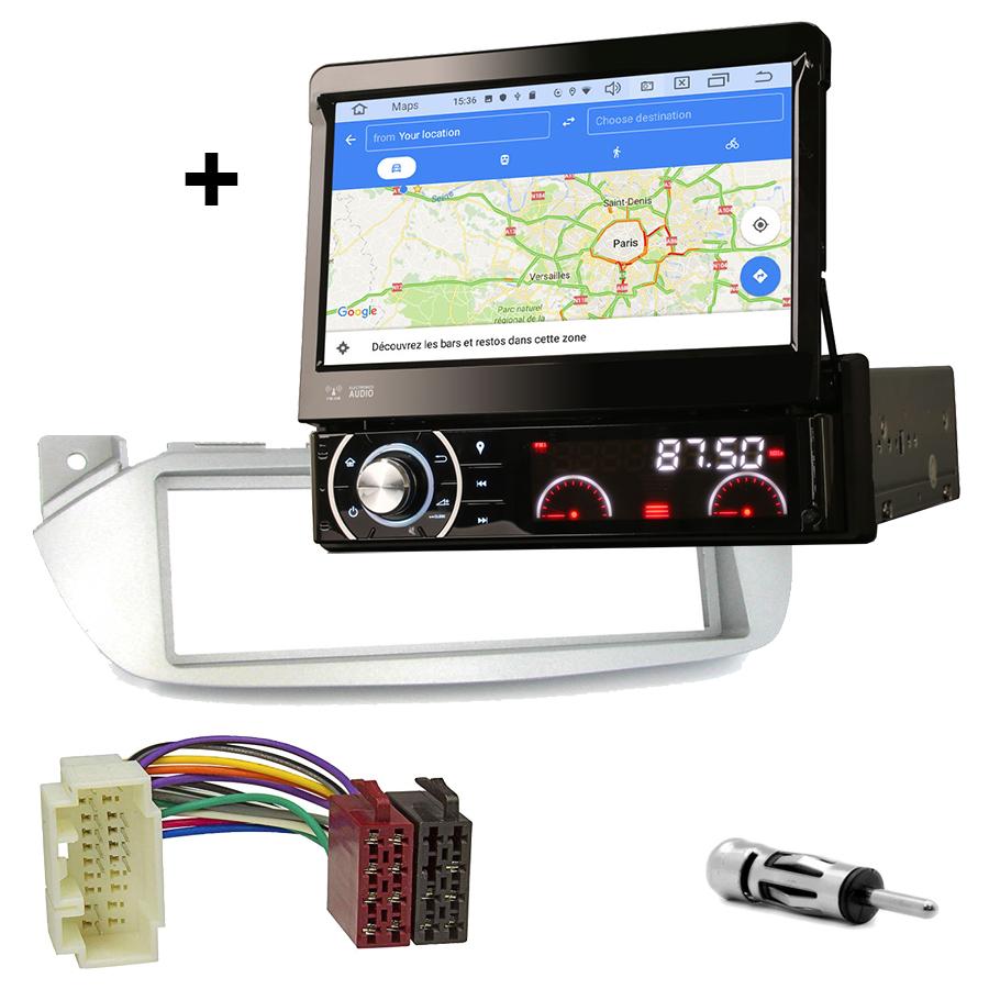 Kit d\'intégration Nissan Pixo de 2009 à 2014 + Poste 1DIN avec écran tactile