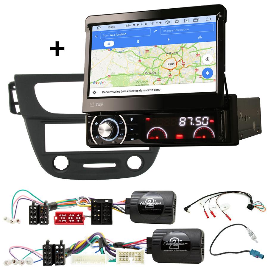 Kit d\'intégration Renault Megane et Fluence de 2009 à 2014 + Poste 1DIN avec écran tactile