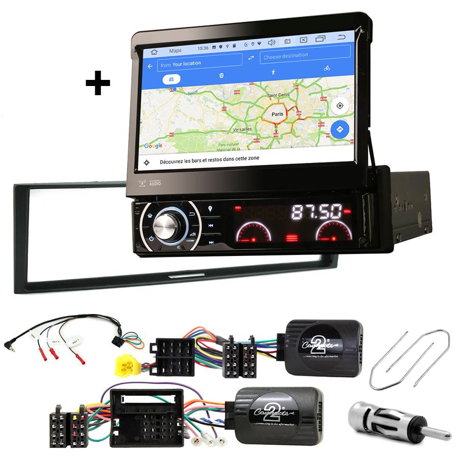 Kit d\'intégration Renault Megane, Modus, Grand Modus et Clio 3 + Poste 1DIN avec écran tactile
