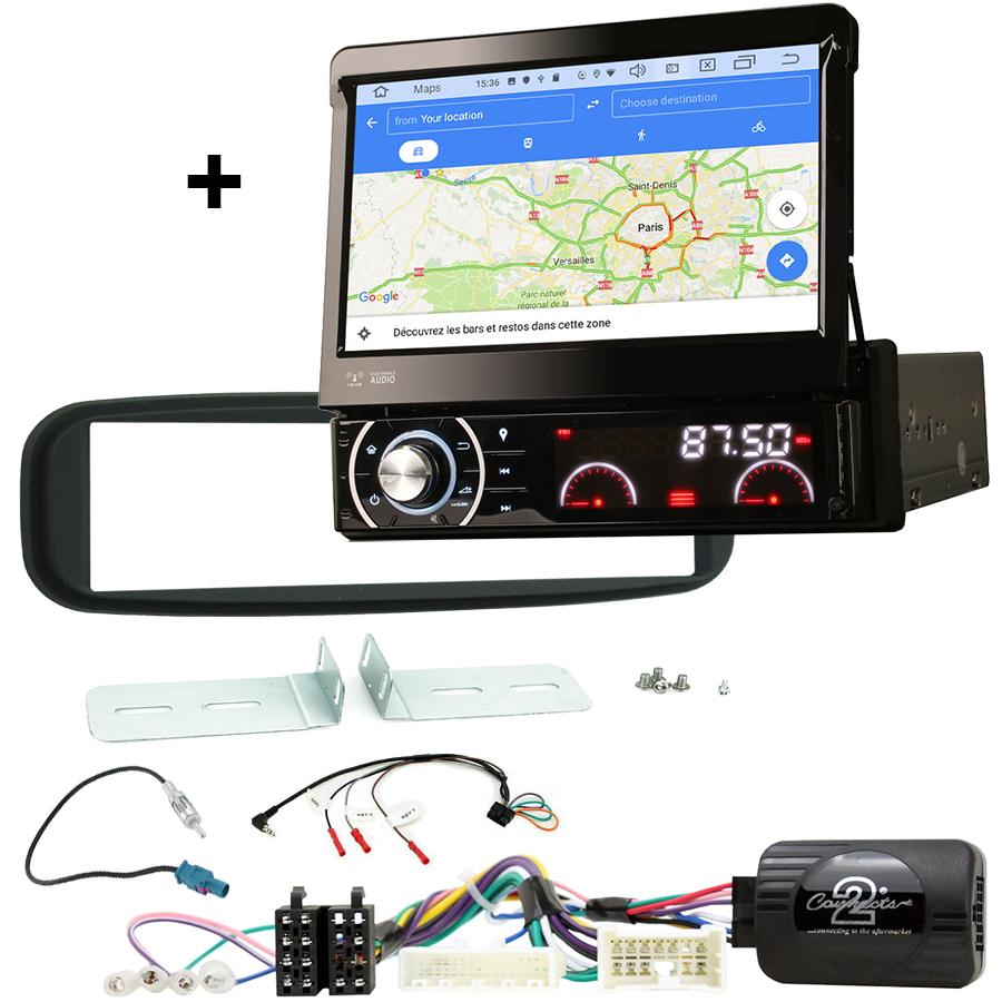 Kit d\'intégration Renault Clio de 2012 à 2017 + Poste 1DIN avec écran tactile