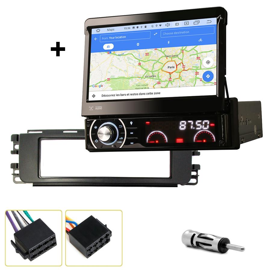 Kit d\'intégration Smart ForFour de 01/2004 à 06/2006 + Poste 1DIN avec écran tactile