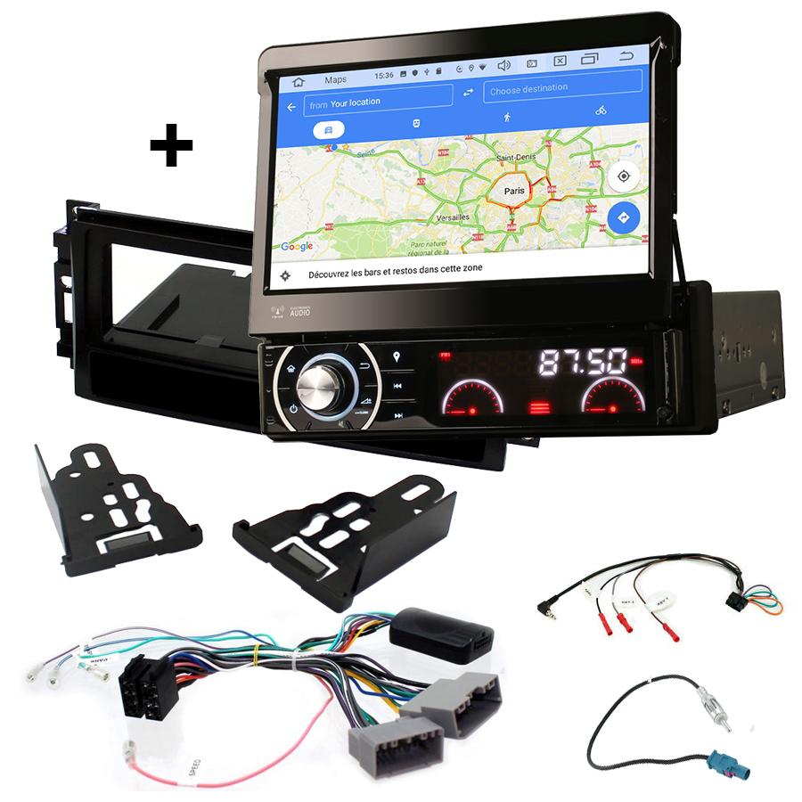 Kit d\'intégration Dodge Avenger, Charger, Caliber, Dakota, Durango, Journey, Nitro et Dodge RAM + Poste 1DIN avec écran tactile