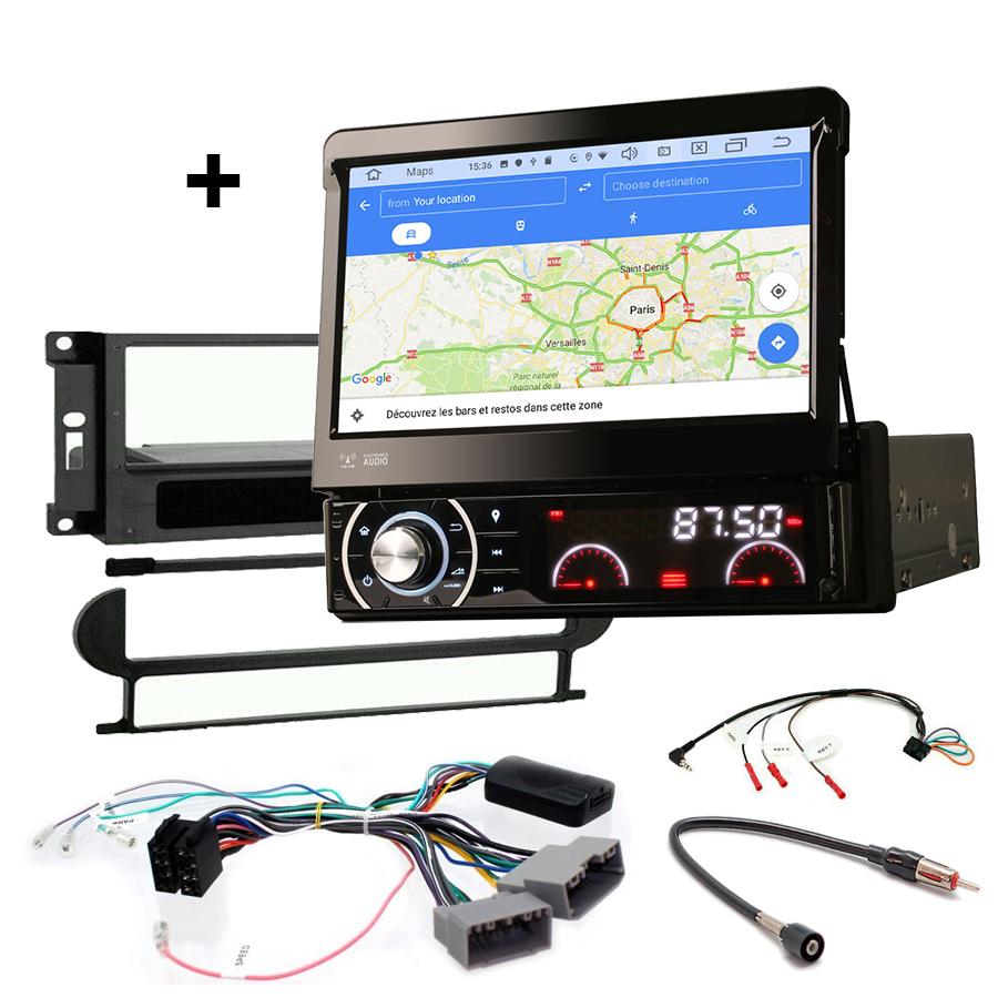 Kit d\'intégration Jeep Grand Cherokee, Commander, Patriot et Compass de 2005 à 2008 + Poste 1DIN avec écran tactile