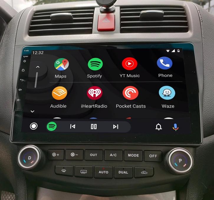 Ecran tactile QLED Android 11.0 + Apple Carplay sans fil Honda Accord de 2002 à 2008