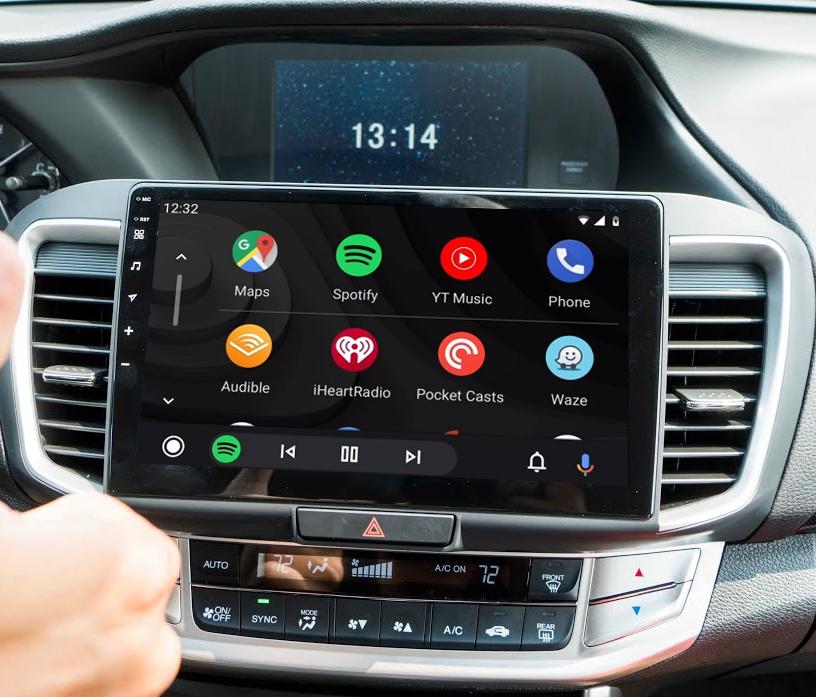 Ecran tactile Android 11.0 + Apple Carplay via USB Honda Accord de 2013 à 2019