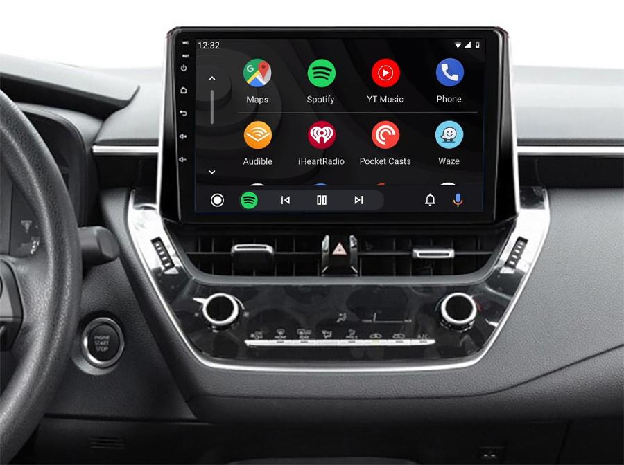 Ecran tactile QLED Android 11.0 + Apple Carplay sans fil Toyota Auris, Corolla depuis 2018