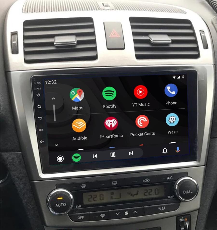 écran tactile QLED Android 11.0 et Apple Carplay sans fil Toyota Avensis de 02/2003 à 2009