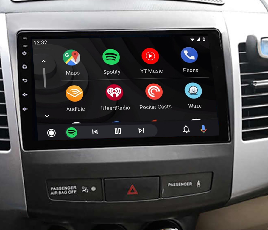 Ecran tactile QLED Android 11.0 + Apple Carplay sans fil Peugeot 4007 de 2007 à 2012