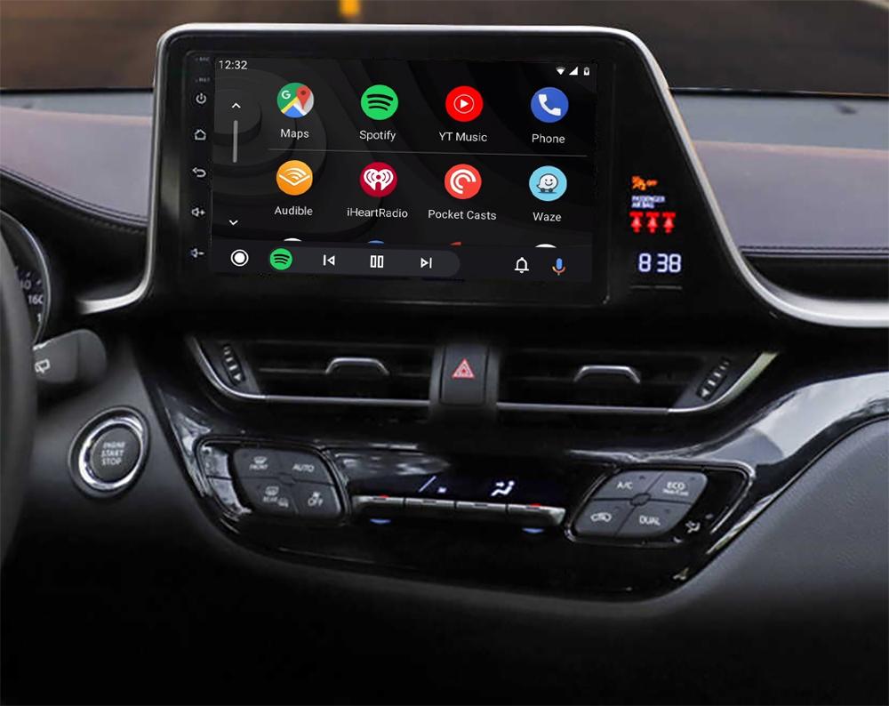 Ecran tactile QLED Android 11.0 + Apple Carplay sans fil Toyota C-HR de 2016 à 2021