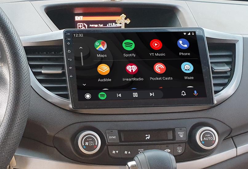 Ecran tactile QLED Android 11.0 + Apple Carplay sans fil Honda CR-V de 2012 à 2016