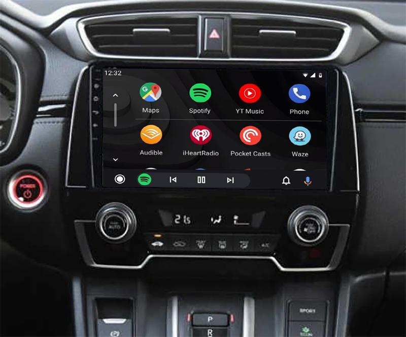 Ecran tactile QLED Android 11.0 + Apple Carplay sans fil Honda CR-V depuis 2017