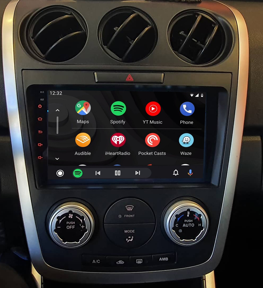 Ecran tactile QLED Android 11.0 + Apple Carplay sans fil Mazda CX-7 de 2007 à 2012