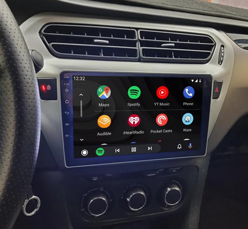 Ecran tactile Android 11.0 + Apple Carplay via USB Citroën C-Elysée de 2012 à 2017