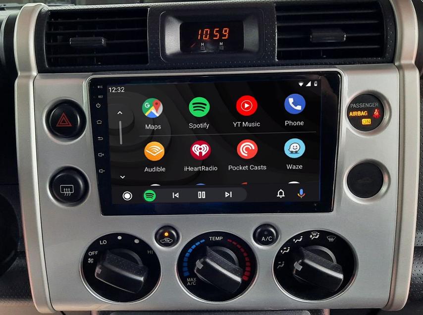écran tactile QLED Android 11.0 et Apple Carplay sans fil Toyota FJ Cruiser de 2006 à 2020