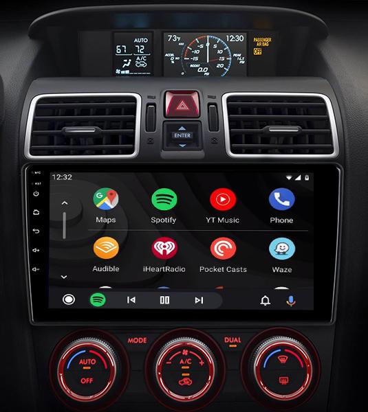 Ecran tactile QLED Android 11.0 + Apple Carplay sans fil Subaru Forester de 2013 à 2018
