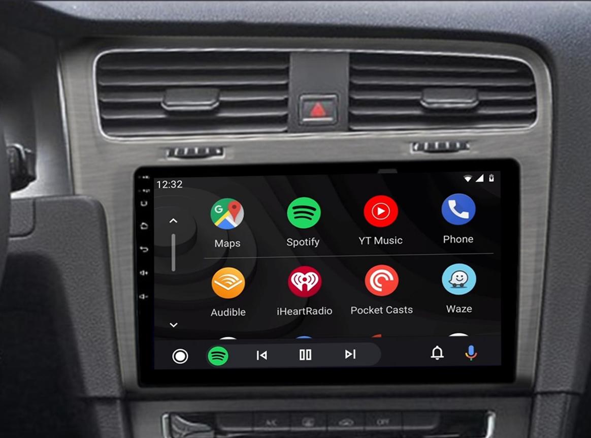 Ecran tactile QLED Android 11.0 + Apple Carplay sans fil Volkswagen Golf VII de 2013 à 2020
