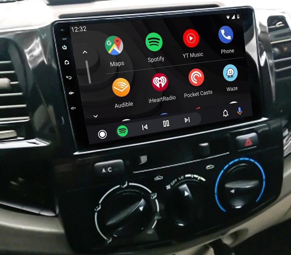 Ecran tactile QLED Android 11.0 + Apple Carplay sans fil Toyota Hilux de 2012 à 2015