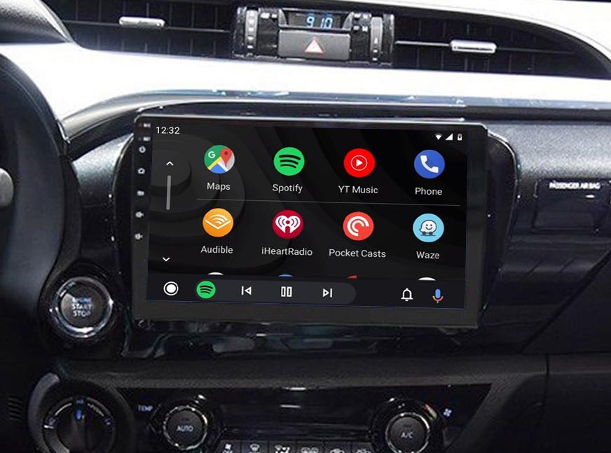 Ecran tactile QLED Android 11.0 + Apple Carplay sans fil Toyota Hilux depuis 2015