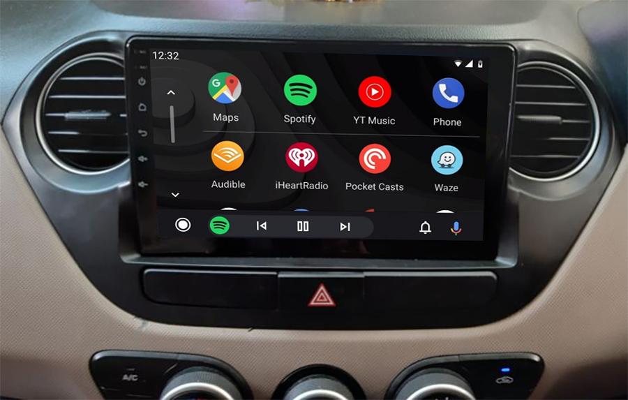 Ecran tactile QLED Android 11.0 + Apple Carplay sans fil Hyundai i10 de 2014 à 2019
