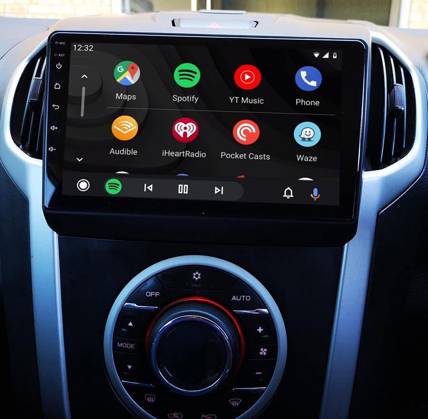 Ecran tactile QLED Android 11.0 + Apple Carplay sans fil Isuzu D-Max de 2012 à 2018