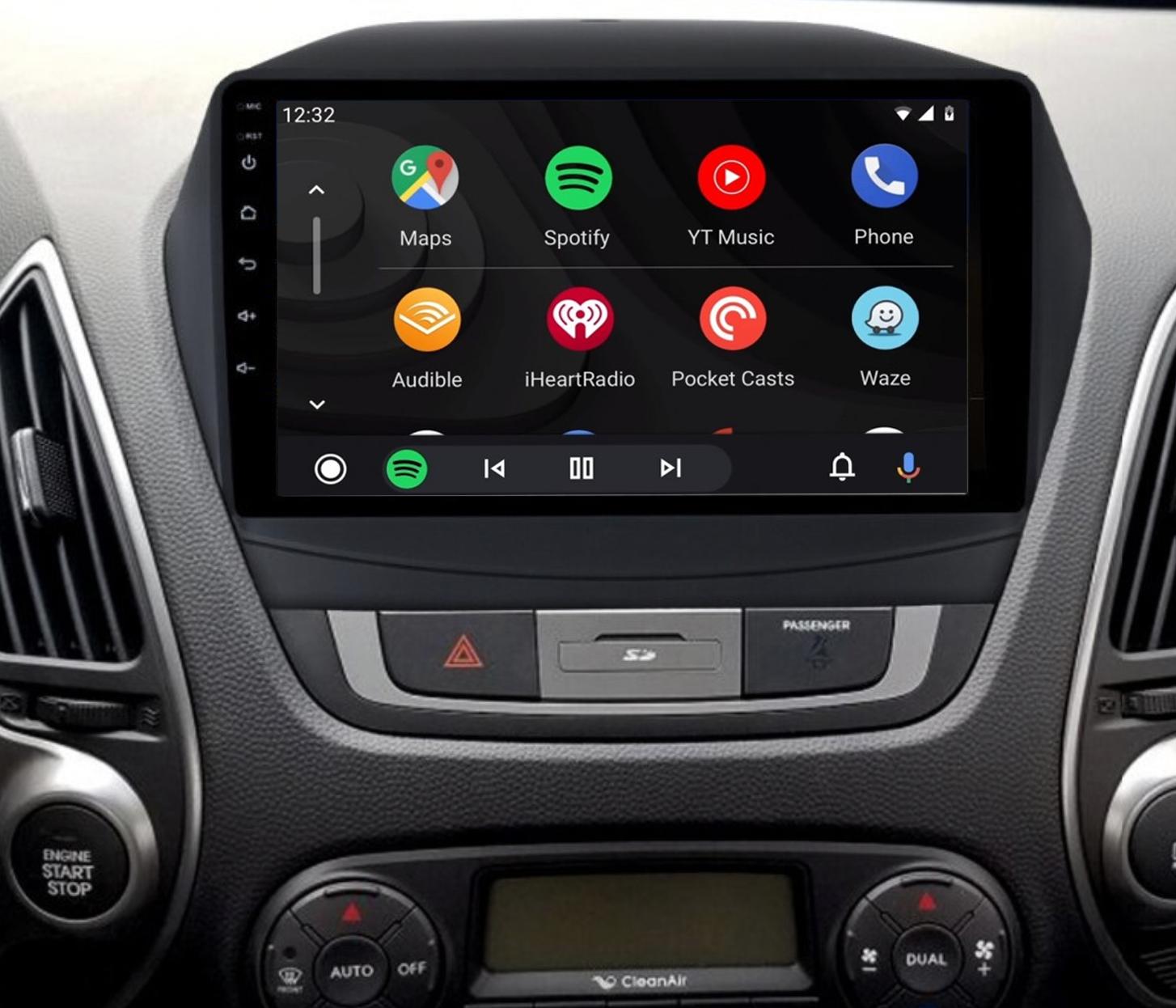 Ecran tactile QLED Android 11.0 + Apple Carplay sans fil Hyundai IX35 de 2010 à 2013