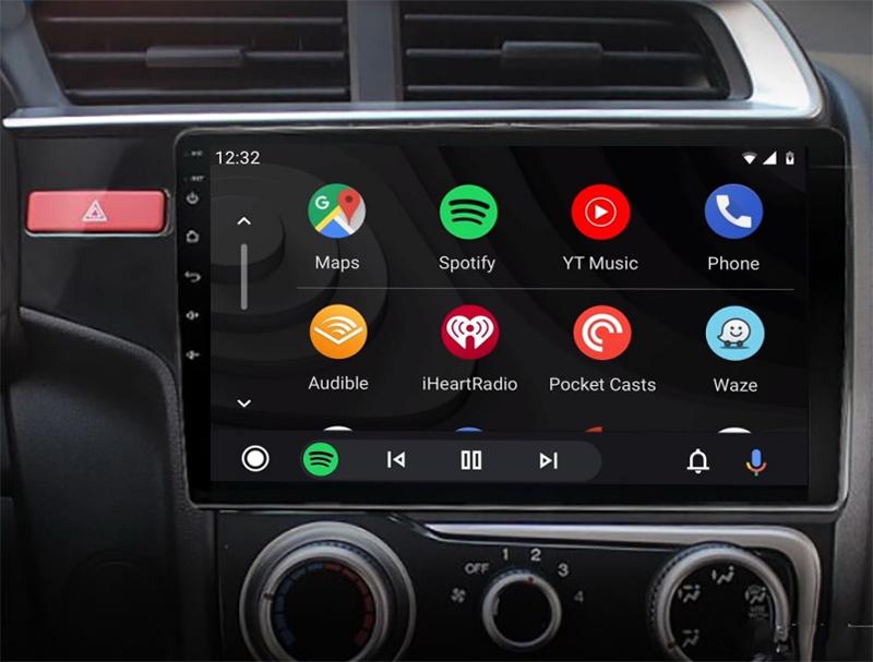 Ecran tactile QLED Android 11.0 + Apple Carplay sans fil Honda Jazz de 2014 à 2020