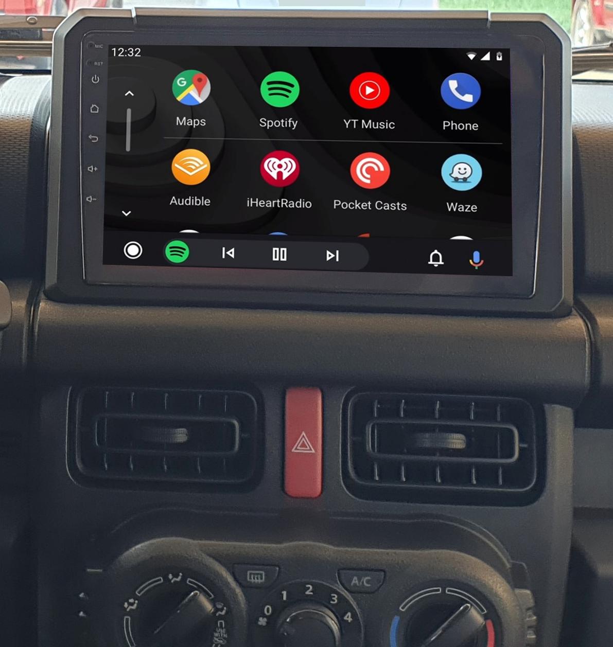 Ecran tactile QLED Android 11.0 + Apple Carplay sans fil Suzuki Jimny depuis 2019